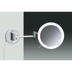 WINDISCH 99650/2 LED MIRRORS WALL MOUNTED ONE FACE LIGHTED MAGNIFYING MIRROR