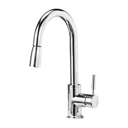 BLANCO 441646 SONOMA PULL-DOWN, SWIVEL SINGLE HOLE KITCHEN FAUCET IN POLISHED CHROME