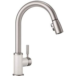 BLANCO 442061 SONOMA PULL-DOWN, SWIVEL SINGLE HOLE KITCHEN FAUCET IN WHITE