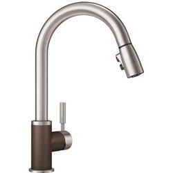 BLANCO 442056 SONOMA PULL-DOWN, SWIVEL SINGLE HOLE KITCHEN FAUCET IN CAFE BROWN