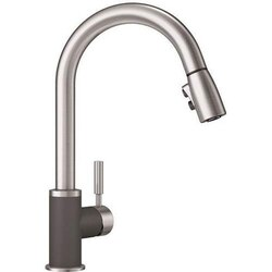 BLANCO 442057 SONOMA PULL-DOWN, SWIVEL SINGLE HOLE KITCHEN FAUCET IN CINDER