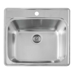 Blanco 441078 Essential   Stainless Steel 25 Inch Laundry Sink