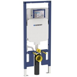 GEBERIT 111.798.00.1 DUOFIX CARRIER FOR WALL-HUNG TOILET IN 2 X 4 ROOM-HEIGHT WALL CONSTRUCTION, 1.6 / 0.8 GPF (6 / 3 LPF)