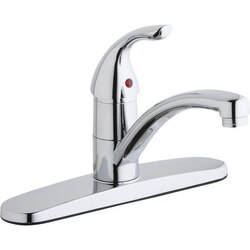 ELKAY LK1000CR THREE HOLE DECK MOUNT EVERYDAY KITCHEN FAUCET AND ESCUTCHEON