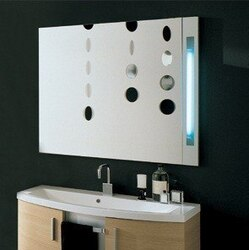 IOTTI DUNE COLLECTION 41.3 INCH WIDE SMOOTH MIRROR W/ LAMP