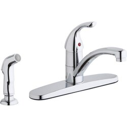 ELKAY LK1001CR THREE HOLE DECK MOUNT EVERYDAY KITCHEN FAUCET AND ESCUTCHEON