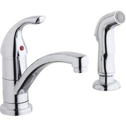 ELKAY LK1501CR SINGLE HOLE DECK MOUNT EVERYDAY KITCHEN FAUCET WITH HANDLE AND SIDE SPRAY