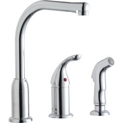 ELKAY LK3001CR EVERYDAY KITCHEN DECK MOUNT FAUCET WITH REMOTE HANDLE AND SIDE SPRAY