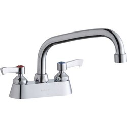 ELKAY LK406AT08L2 DECK MOUNT FAUCET WITH 8 INCH ARC TUBE SPOUT AND 2 INCH HANDLES