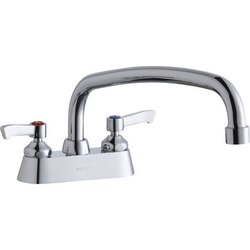 ELKAY LK406AT12L2 DECK MOUNT FAUCET WITH 12 INCH ARC TUBE SPOUT AND 2 INCH HANDLES