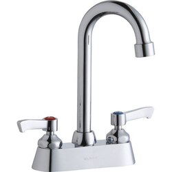 ELKAY LK406GN04L2 DECK MOUNT FAUCET WITH 4 INCH GOOSENECK SPOUT AND 2 INCH HANDLES