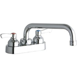 ELKAY LK406TS08L2 DECK MOUNT FAUCET WITH 8 INCH TUBE SPOUT AND 2 INCH HANDLES