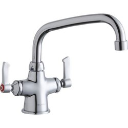 ELKAY LK500AT08L2 SINGLE HOLE WITH CONCEALED DECK MOUNT FAUCET, 8 INCH ARC TUBE SPOUT AND 2 INCH HANDLES
