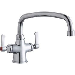 ELKAY LK500AT14L2 SINGLE HOLE WITH CONCEALED DECK MOUNT FAUCET WITH 14 INCH ARC TUBE SPOUT AND 2 INCH HANDLES
