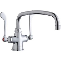 ELKAY LK500AT14T6 SINGLE HOLE WITH CONCEALED DECK MOUNT FAUCET WITH 14 INCH ARC TUBE SPOUT AND 6 INCH HANDLES