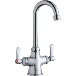 ELKAY LK500GN04L2 SINGLE HOLE WITH CONCEALED DECK FAUCET, 4 INCH GOOSENECK SPOUT AND 2 INCH HANDLES