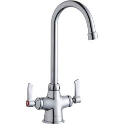 ELKAY LK500GN05L2 SINGLE HOLE WITH CONCEALED DECK FAUCET, 5 INCH GOOSENECK SPOUT AND 2 INCH HANDLES