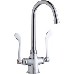 ELKAY LK500GN05T6 SINGLE HOLE WITH CONCEALED DECK FAUCET, 5 INCH GOOSENECK SPOUT AND 6 INCH HANDLES