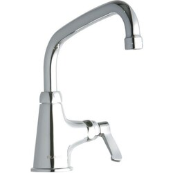 ELKAY LK535AT08L2 SINGLE HOLE FAUCET, 8 INCH ARC TUBE SPOUT AND 2 INCH HANDLE