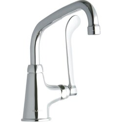 ELKAY LK535AT08T6 SINGLE HOLE FAUCET, 8 INCH ARC TUBE SPOUT AND 6 INCH HANDLE