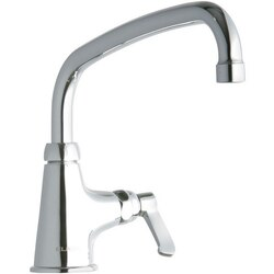 ELKAY LK535AT10L2 SINGLE HOLE FAUCET, 10 INCH ARC TUBE SPOUT AND 2 INCH HANDLE