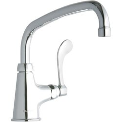 ELKAY LK535AT10T4 SINGLE HOLE FAUCET, 10 INCH ARC TUBE SPOUT AND 4 INCH HANDLE