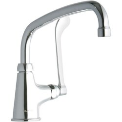 ELKAY LK535AT10T6 SINGLE HOLE FAUCET, 10 INCH ARC TUBE SPOUT AND 6 INCH HANDLE