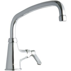 ELKAY LK535AT12L2 SINGLE HOLE FAUCET, 12 INCH ARC TUBE SPOUT AND 2 INCH HANDLE