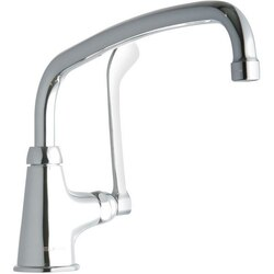 ELKAY LK535AT12T6 SINGLE HOLE FAUCET, 12 INCH ARC TUBE SPOUT AND 6 INCH HANDLE