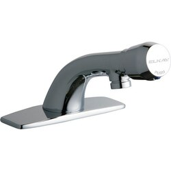 ELKAY LK652 SINGLE HOLE DECK MOUNT METERED LAVATORY FAUCET WITH CAST FIXED SPOUT AND ESCUTCHEON