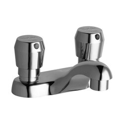 ELKAY LK656 SINGLE HOLE DECK MOUNT METERED LAVATORY FAUCET WITH 4 INCH CAST FIXED SPOUT