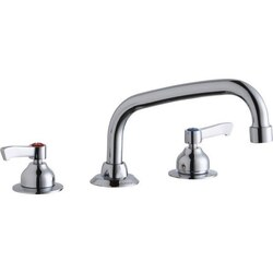 ELKAY LK800AT08L2 DECK MOUNT FAUCET WITH 8 INCH ARC TUBE SPOUT AND 2 INCH HANDLES