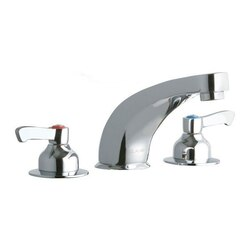 ELKAY LK804CF06L2 DECK FAUCET WITH 6 INCH CAST FIXED SPOUT AND 2 INCH HANDLES