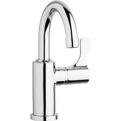 ELKAY LKD20858C SINGLE HOLE 8-5/8 INCH DECK MOUNT FAUCET WITH GOOSENECK SPOUT LEVER HANDLE ON RIGHT SIDE