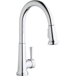 ELKAY LK6000 SINGLE HOLE DECK MOUNT EVERYDAY KITCHEN FAUCET WITH PULL-DOWN SPRAY FORWARD ONLY LEVER HANDLE