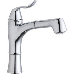 ELKAY LKEC1041 EXPLORE SINGLE HOLE KITCHEN FAUCET WITH PULL-OUT SPRAY LEVER HANDLE WITH HI AND MID-RISE BASE OPTIONS