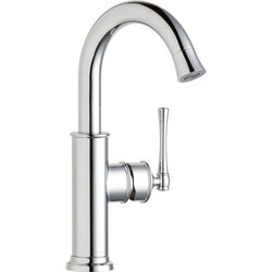 ELKAY LKEC2012 EXPLORE SINGLE HOLE BAR FAUCET WITH FORWARD ONLY LEVER HANDLE