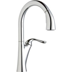 ELKAY LKHA4031 HARMONY SINGLE HOLE KITCHEN FAUCET WITH PULL-DOWN SPRAY AND FORWARD ONLY LEVER HANDLE