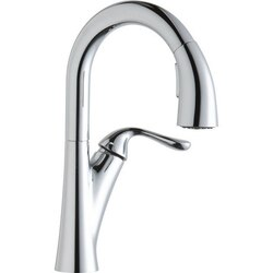 ELKAY LKHA4032 HARMONY SINGLE HOLE BAR FAUCET WITH PULL-DOWN SPRAY AND FORWARD ONLY LEVER HANDLE