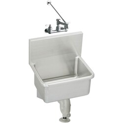 ELKAY ESSW2118C 21 L X 17-1/2 W X 12 D WALL HUNG SERVICE SINK KIT WITH FAUCET