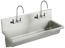 ELKAY EWMA4820C 48 L X 20 W X 8 D WALL HUNG MULTIPLE STATION HAND WASH SINK KIT WITH FAUCET