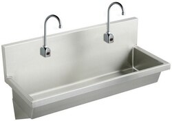 ELKAY EWMA4820SACC 48 L X 20 W X 8 D WALL HUNG MULTIPLE STATION HAND WASH SINK AND SENSOR FAUCET
