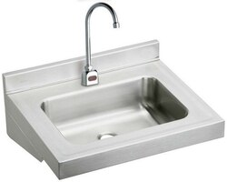 ELKAY ELV2219SACMC 22 L X 19 W X 5-1/2 D WALL HUNG LAVATORY SINK WITH SENSOR FAUCET, MECHANICAL MIXING VALVE