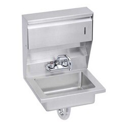 ELKAY EHS-18-TDX ECONOMY 18 L X 14-1/2 W X 22-3/8 H HAND SINK, FEATURING SOAP AND TOWEL DISPENSER