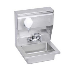 ELKAY EHS-18-STDX ECONOMY 18L X 14.5W X 22.375H HAND SINK, FEATURING SOAP AND TOWEL DISPENSER