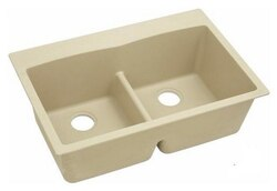 ELKAY ELGDLB3322SD0 33 L X 22 W X 10 D DOUBLE BOWL KITCHEN SINK IN SAND
