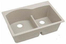 ELKAY ELGH3322RPT0 33 L X 22 W X 10 D DOUBLE BOWL KITCHEN SINK IN PUTTY