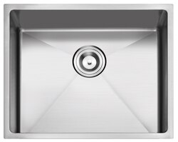 STUFURHOME NW-2318S-18 NATIONALWARE 18-GAUGE STAINLESS STEEL 23 INCH SINGLE BASIN UNDERMOUNT KITCHEN SINK