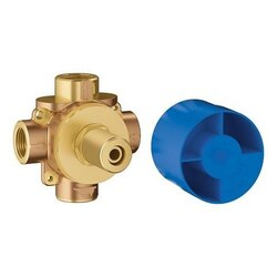 GROHE 29903000 CONCETTO 3-WAY DIVERTER ROUGH-IN VALVE (SHARED FUNCTIONS) IN BRUSHED NICKEL