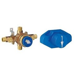 GROHE 35065001 GROHSAFE UNIVERSAL PRESSURE BALANCE ROUGH-IN VALVE IN STARLIGHT CHROME